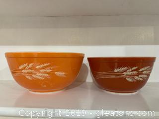 Autumn Harvest Pyrex Bowls