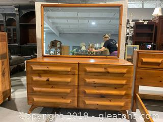 Franklin Shockey Co. Double Dresser with Mirror