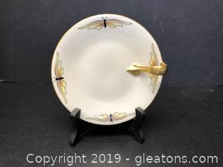 Long Champs Tray Small Plate with Gold Handle