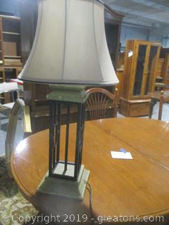 Modern Lamp with Lantern Look