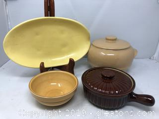 McCoy Footed Dish and Bowls