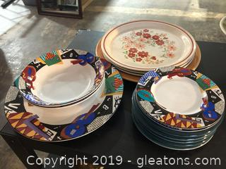 Lot of China Made by Sakura and Mixed Vintage Pieces