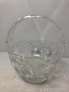 Vintage Crystal Basket Pinnhal Design