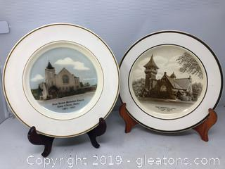 Historical Church's Lot of Plates
