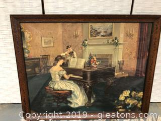Vintage Reproduction Art Framed