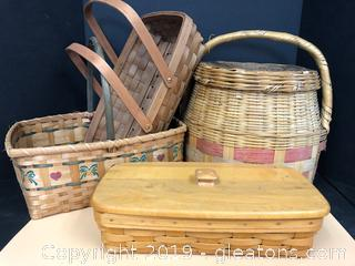 Baskets including Longaberger