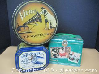 3 Collector's Tins