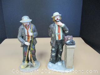Flambro Emmett Kelly Jr. Clown Figurine Lot