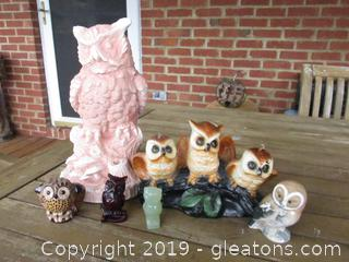 The Owls Have IT Lot of 6 Owls
