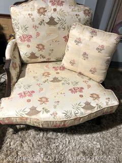 Ethan Allen Asian Accent Chair in Excellent Condition