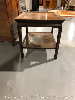 Oriental Style Vintage Wooden Side Table