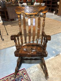 Dark Wood Rocking Chair