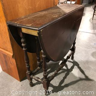 Antique Trifolding Table
