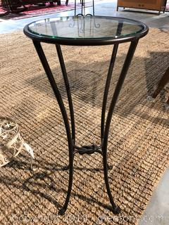 Small Round Wrought Iron Glass Table
