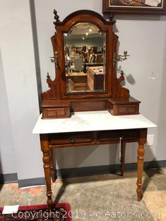 Marble Top Antique Vanity