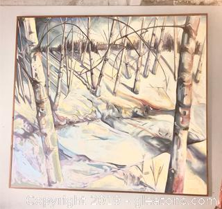 Large Winter Landscape Original