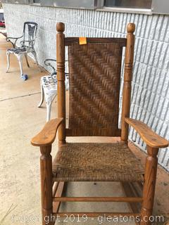 Weave Basket Rocking Chair in Excellent Condition