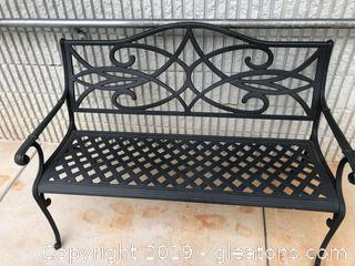 Cast Iron Outdoor Bench in Excellent Condition