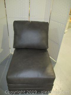Brown Leather Sectional Chair