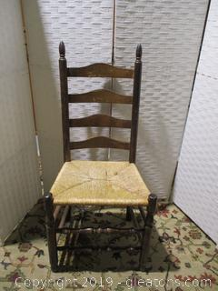 Ladder back Chair W/Cane Bottom