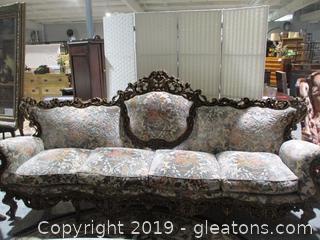 Heavily Carved Rococo Parlor Sofa