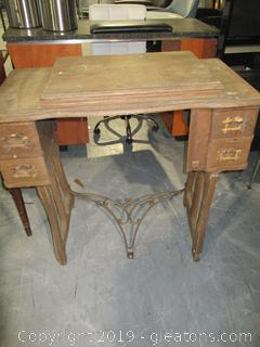 Antique Sewing Machine Cabinet