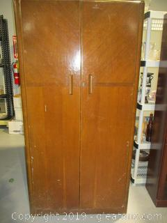 Vintage Gentleman's Armoire Fitrobe  DM Davies of Slough