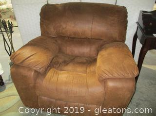 Oversized Rocker Recliner Suede