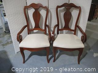 Pair of Thomasville Furniture King Dining Chair From the Winston Court Collection