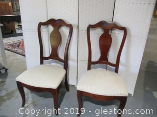 Pair of Dining Chairs Made by Thomasville Furniture from Winston Court Collection (A)