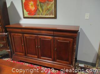Solid Wood Sideboard Credenza