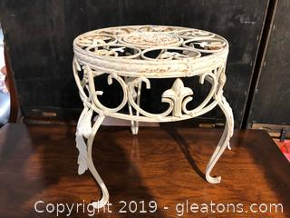 Metal Plant Stand-White