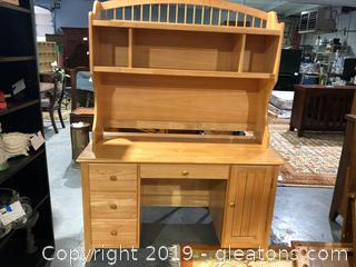 Pine Desk and Hutch by Apple Furniture