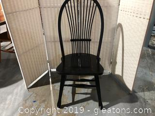 Farmhouse Black Spindle Back Chair