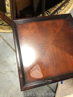 Oak Stained Side Table