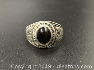 Vintage Sterling Air Force Class Ring