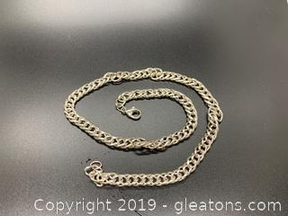 "Heavy Sterling 20"" Necklace"