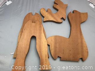 Take apart reindeer hand made