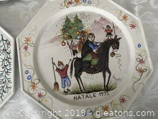 A. Zen Nove hand made Christmas plates