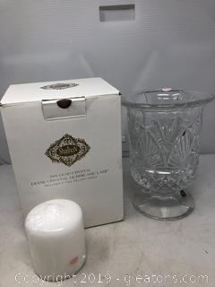 Brand New by Shannon Crystal Hurricane Lamp