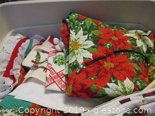 Christmas Table Clothes Table Runners etc