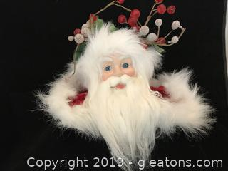 Stunning Santa head red cape collar and hat #2