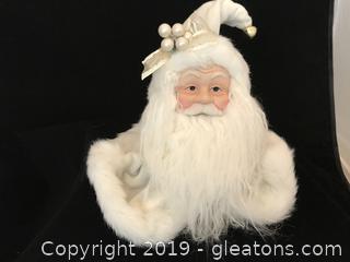 Golden Santa Head Ornament # 3