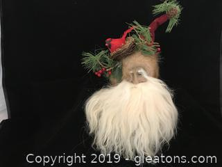Woodland Santa Head ornament