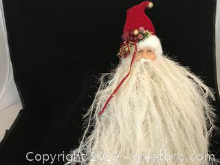 Long bearded Santa Head ornament