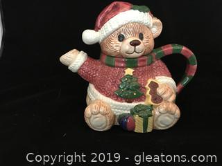 Christmas bear hot chocolate pitcher