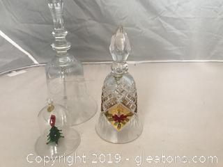Three crystal bells
