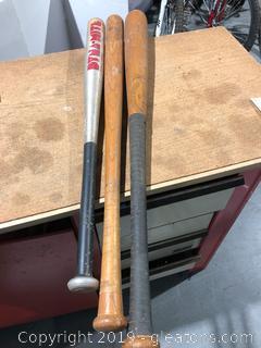 Vintage Wood and Aluminium Baseball Bat Lot