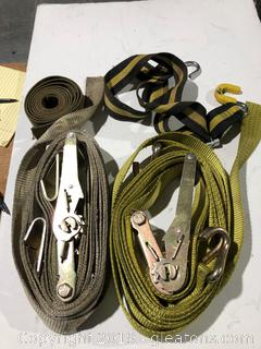 Lot of Industrial Tie Dows and Straps