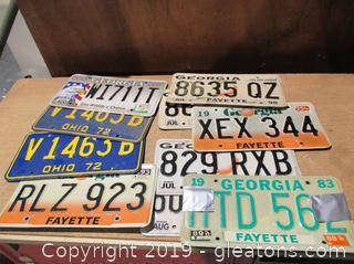 Vintage Car Tags Lot (9)